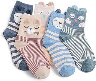 Calcetines Mujer de Algodón Animal Calcetines de Algodón Lindos Calcetines de Animales Calcetines Antideslizantes para Niña Calcetines,Calcetines de Invierno