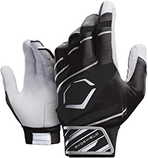 EvoShield Youth Protective Batting Gloves 2.0 (Speed Stripe Black/Black/Grey, YOUTH Medium)