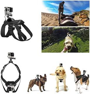 Briday Gopro Dog Harness Mount for Camera, Chest Back Strap Belt Mount Pet Vest for Gopro Hero 7 6 5 4 3+ 3 2 1 Hero Session 5, HD / SJ4000 / SJ5000 / SJ6000 Xiaomi Yi, Etc. Sports Action Camera