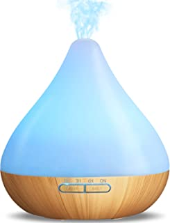 350ML Ultrasonic Diffuser, 5 in 1 Essential Oil Diffuser Vaporizer Humidifier with 2 Mist Modes & 4 Timers, 18+ Hour Capac...
