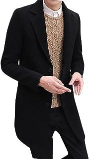 comprar comparacion OverDose Abrigos Hombre Invierno Sobretodo Formal de Solo Pecho Mezcla de