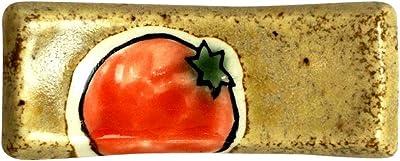 みのる陶器 彩野菜 箸置き 茶 トマト 3個セット 21-726685