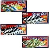SET DE 4 MY FAMILY TRADITIONNELS JEUX D'ECHECS LUDO Snakes & Ladders DAMES