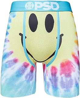 PSD Underwear Men's Stretch Elastic Wide Band Boxer Brief Underwear Bottom | Breathable, 7 inch Inseam | - Yellow - Medium