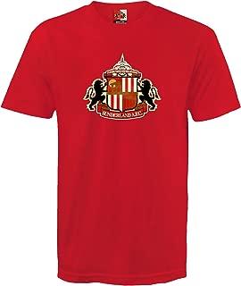 Sunderland Football Club Official Soccer Gift Mens Crest T-Shirt