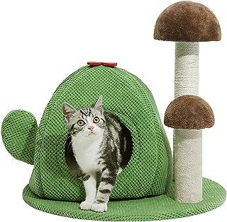 PaWz Cactus Cat Tree Scratching Post Condo Pet Calmig Bed Scratcher Pole House