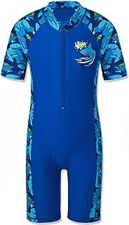 TFJH E ملابس السباحة الصبية راش جارد ملابس السباحة طفل 50+ الأشعة فوق البنفسجية واقية من الشمس قطعة واحدة الرمز البريدي