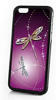 (For iPhone 8/iphone 7) Phone Case Back Cover - HOT4224 Purple Dragonfly