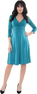 Purpless Maternity Classic Pregnancy Woman Dress Vneck A line D4400