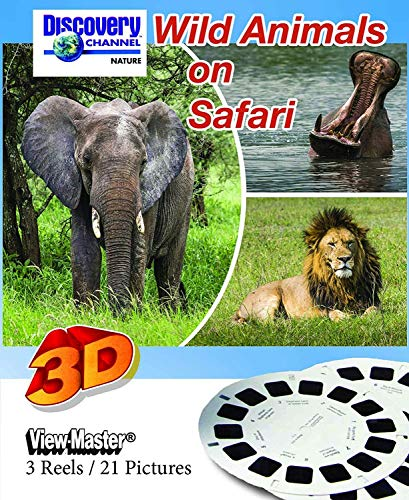 Wild Animals On Safari - Classic ViewMaster - 3 Reels on Card - New