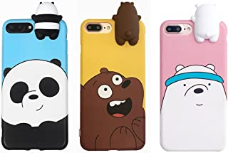 Aikeduo for 3D Cartoon Animals Cute We Bare Bears Soft Silicone Case Cover Skin 3pcs Sell for iPhone6/6s/6plus/6s Plus iPhone7 /7plus case (iphone6/6s)