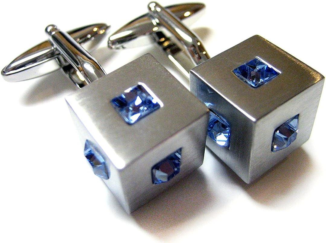 Crystal Studded Cufflinks Max San Antonio Mall 44% OFF Cube