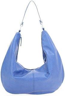 bba24c54f7 Paquetage Sac Maxi Besace Bleu Similicuir Perforé BD-062