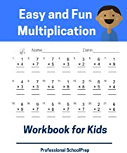 Easy and Fun Multiplication Workbook for Kids: Full set 5000 times tables book for 2nd, 3rd, 4th grade student or beginners to practice everyday math exercises with fluency and confident.