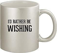 I'd Rather Be WISHING - Ceramic 11oz Silver Coffee Mug, Silver