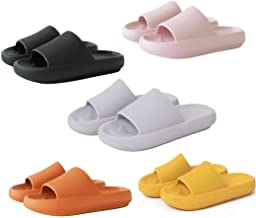 Pillow Slides Sandals Ultra-Soft Slippers,Bathroom Non-Slip Thick Soled Shoes, Unisex Super Soft Home Slippers (40-41, Gray)