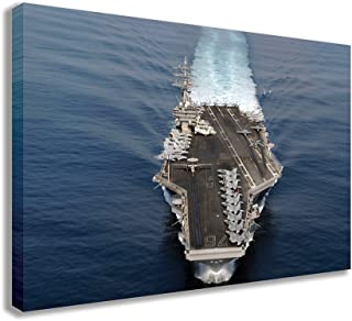 "US NAVY THE NIMITZ CLASS AIRCRAFT CARRIER CANVAS WALL ART (30"" X 18"" / 75 X 45cm)"