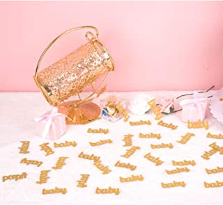 ZOOYOO Glitter Gold Baby Confetti Paper Table Confetti for Baby Showers Pack of 100