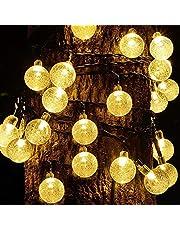 Led-lichtsnoer op zonne-energie, voor buiten, kerstdecoratie, 50 leds, 10 m, lichtketting met groot zonnepaneel voor Valentijnsdag, balkon, tuin, bruiloft, feest, energieklasse A+++