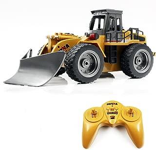 WOLFBUSH RC Shovel Truck, 6CH Remote Control Shovel Snow Car Construction Vehicles Children Gift Kids Toy Car, 1:18