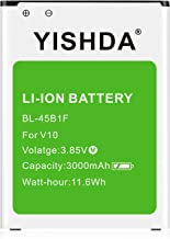 LG V10 Battery, YISHDA 3000mAh Li-ion Replacement LG BL-45B1F Battery for V10 H961N, H960A, H900 AT&T, VS990 Verizon, H901 T-Mobile Cell Phones| LG V10 Spare Battery [18 Month Warranty]