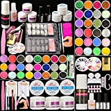 Guffo Acrylic Nail Kit, Acrylic Powder and Liquid Set, Monomer and Glitter Acrylic Nail Supplies Nail Decorations And Tools, Professional Nail Kit For Beginners With Everything.
