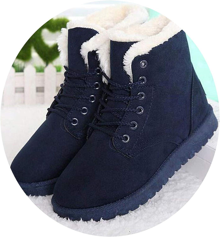 Secret-shop Winter Boots Women Ankle Boots Women shoes Warm Fur Plush Insole shoes Woman