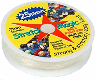 Stretch Magic Clear Bead Cord.7mm 25 meters (about 82ft)