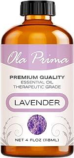 4oz - Premium Quality Lavender Essential Oil (4 Ounce Bottle with Dropper) Therapeutic Grade Lavender Oil