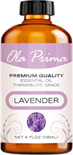 4oz - Premium Quality Lavender Essential Oil (4 Ounce Bottle) Therapeutic Grade Lavender Oil