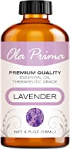 4oz - Premium Quality Lavender Essential Oil (4 Ounce Bottle) Therapeutic Grade Lavender Oil