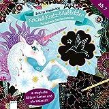 Funkelnde Zauberwesen. Krickel-Kratz-Malbilder: Zeit für Kreativität:: Zeit für Kreativität: 8 magische Glitzerkarten und ein Holzstift
