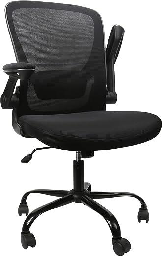 Komene Bürostuhl, Ergonomischer Schreibtischstuhl 360° Drehstuhl Arbeitsstuhl mit Klappbaren Armlehnen und Verstellbare Lendenstütze, Chefsessel…