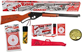 Red Ryder Bundle - 5 Items - Daisy Carbine BB Gun, Starter Kit, Christmas Story Decoder Pin, Daisy 25ct Pack of Targets, D...