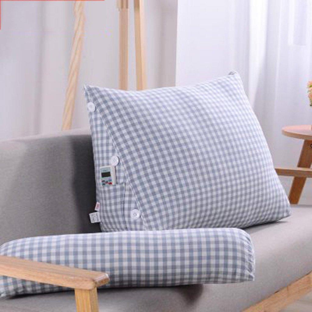 Almohadas lumbares Almohadas Almohadones de algodón japonés cojín del triángulo almohadas de oficina cuidado de la oficina cojines de la manera simple lumbar (Color : Light blue) : Amazon.es: Hogar
