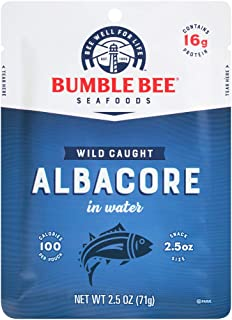 BUMBLE BEE Premium Albacore Tuna in Water, Tuna Fish, High Protein Food, Keto Food and Snacks, Gluten Free ...
