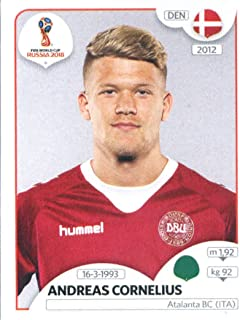 2018 Panini World Cup Stickers Russia #271 Andreas Cornelius Denmark Soccer Sticker