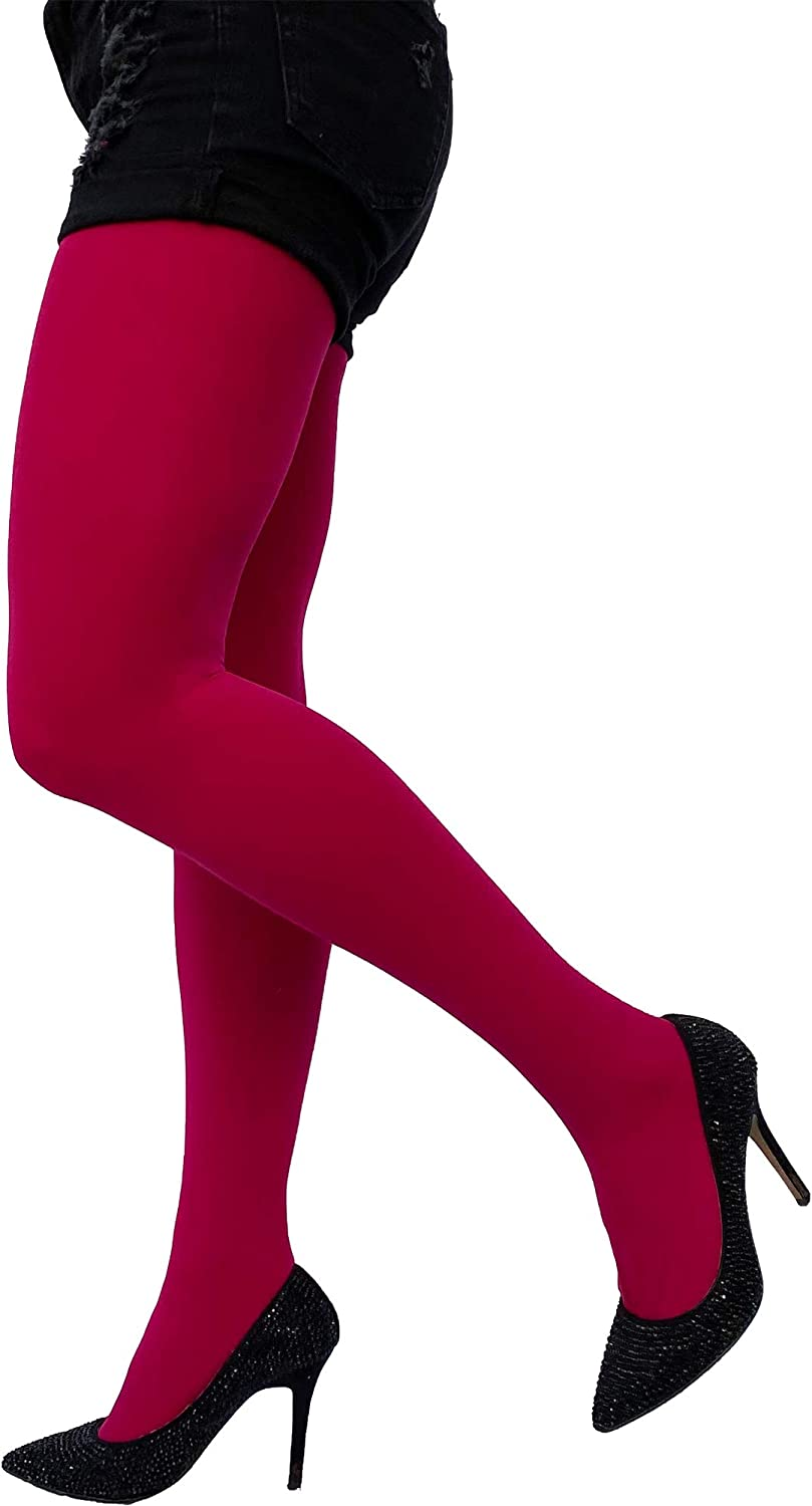 Womens opaque 80 deniers full footed tights pantyhose