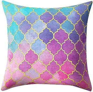 comprar comparacion VJGOAL Hexagonal de Nido de Abeja de impresión Suave Cojín Cómodo Funda de Almohada Cuadrada Decoración del Hogar(45_x_45_...