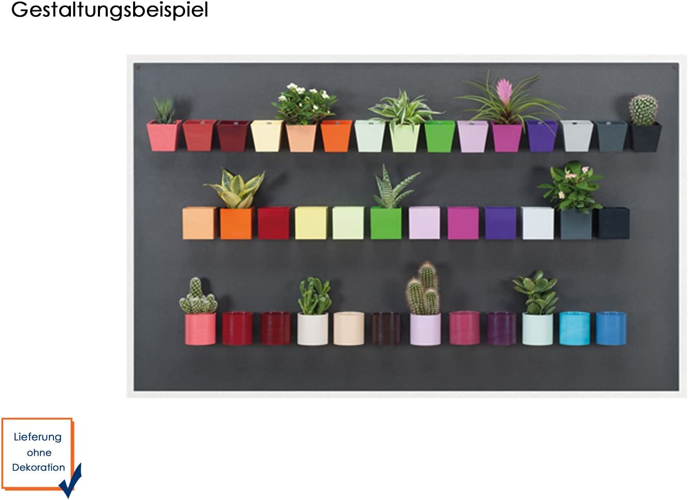 Wall Decoration forma piramidale Pentola magnetica per parete colore verde /Ø 6 cm KalaMitica 51005-602-001
