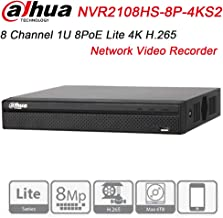 Dahua NVR NVR2108HS-8P-4KS2 8 Channel Compact 1U 8PoE Lite 4K H.265 Network Video Recorder Support Upgrate Firmware