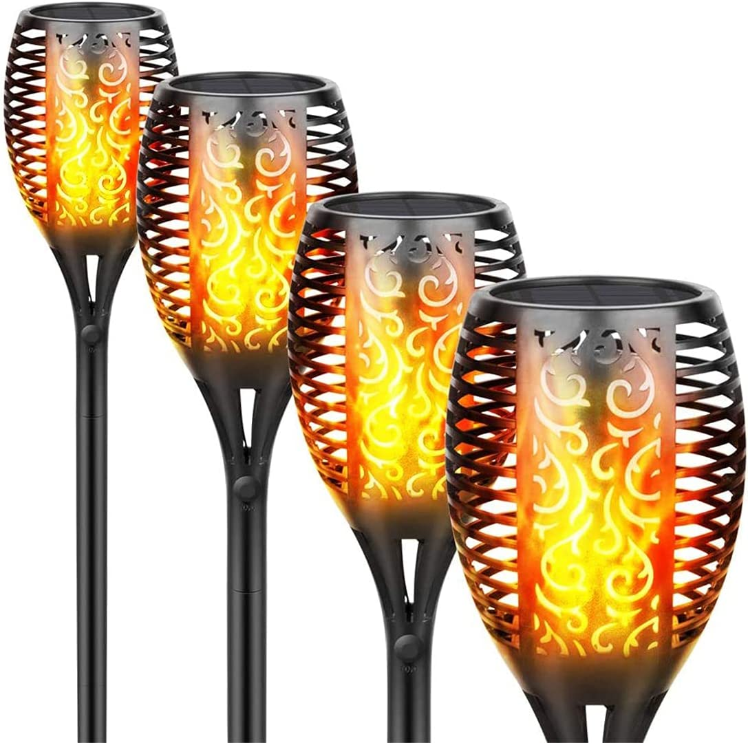 Solar Max 48% OFF Lights Max 42% OFF Waterproof Flickering Torches 96 Flames LED