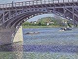 Artland Alte Meister Premium Wandbild Gustave Caillebotte Bilder Poster 60 x 80 cm Die Brücke bei Argenteuil Kunstdruck Wandposter Impressionismus R1OD