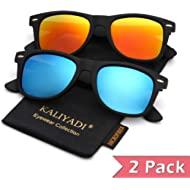 Polarized Sunglasses for Men and Women | Matte Finish Sun glasses | Color Mirror Lens | 100% UV...