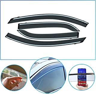 4 Pcs/Set Tape-On Outside-Mount Side Window Wind Deflectors Rain Guard for Chevrolet SAIL 3 2015-2018 Front Rear Car Rooftop Visors Accessories & Body Parts