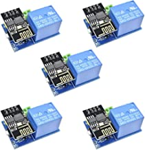 Dmyond 5pcs DC 5V ESP8266 WiFi Relay Module ESP-01 TOI APP Controlled ESP-01S Serial WiFi Wireless Module Adapter Breakout Send Receive AP+STA for Smart Home