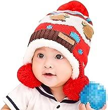 Lean In Baby Girls/Boys Knitted Button Bear Double Ball Wool Cap Winter Warm Earflap Hats - 2016 Best Gift in USA