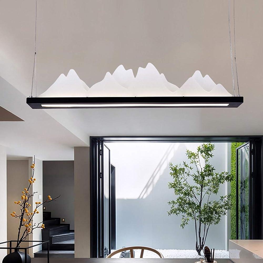 Kuandar chandelier,lampadario dimmerabile,arte del paesaggio creativo, luci led RYYABC203