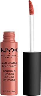 NYX Professional Makeup Soft Matte Lip Cream, Creamy and Matte Finish, Highly Pigmented Colour, Long Lasting, Vegan Formula, Shade: Cannes
