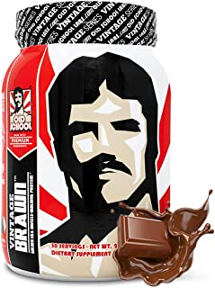 VINTAGE BRAWN Protein - Muscle-Building Protein Powder - The First Triple Isolate of Premium Egg, Milk (Whey and Casein), ...